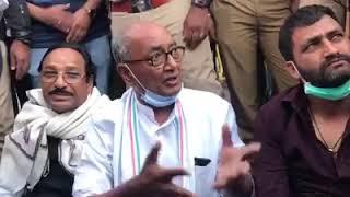 MP political crisis live: MP की सियासत पर कर्नाटक में दिग्विजय सिंह का हल्ला बोल