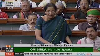 Smt. Nirmala Sitharaman's reply on Demands for Grants in respect of the state of J&K for 2019-20