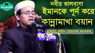 নবীর ভালবাসা ইমানকে পূর্ন করে । কান্নামাখা বয়ান । Mufty Sayed Ahmed Bangla Waz Mahfil 2020