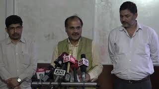 Adhir Ranjan Chowdhury addresses media at Parliament House