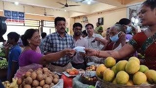 CCP creates awareness in Panjim Market distributes masks to vendors
