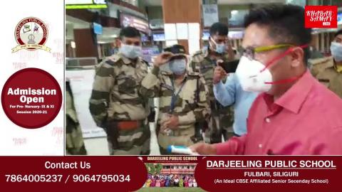 बागडोगरा एयरपोर्ट पर डॉक्टर भूटिया ने थर्मल टेस्टिंग किट व टिप्स।