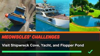 Visit Shipwreck Cove, Yacht, and Flopper Pond Fortnite