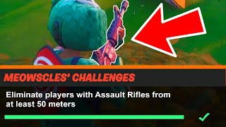 Eliminate players with Assault Rifles from at least 50 meters Fortnite