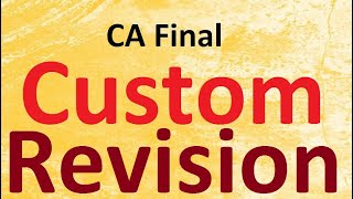 CA Final Custom Revision May 20 Exam || Abhinav Jha CA CS ||  DT AND IDT Videos ||