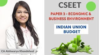 Economic & Business Environment for CSEET by CA Aishwarya Khandlwal