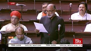Shri K.J. Alphons on Matters Raised With The Permission Of The Chair in Rajya Sabha