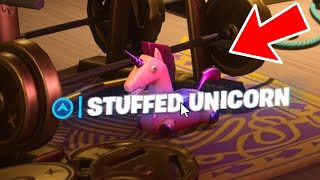 Find Deadpool's Stuffed Unicorn Fortnite