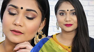 Easy Soft Wedding Guest Makeup Look Using Affordable Makeup Starting Rs.115 In Hindi | Nidhi Katiyar