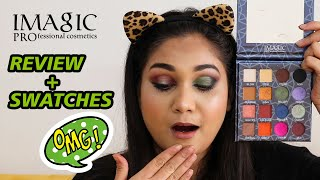IMAGIC 16 COLOR EYESHADOW - Review + Swatches | Nidhi Katiyar