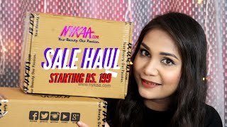 Huge Nykaa Sale Haul 2020 Starting Rs. 199| Lakme, Colorbar, Maybelline, Nykaa | Nidhi Katiyar