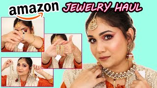 Huge Amazon Jewelry Haul  | Affordable Jewelry Haul| Nidhi Katiyar