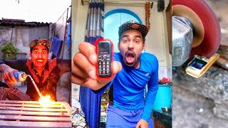 Destroying World's Smallest Phone - Whats inside ????