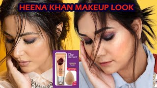 Hina Khan Inspired Makeup Look | Soft smoky Eyes for beginners | Blue Heaven | Nidhi Katiyar