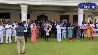 CM KCR & His Family Clapping at Pragathi Bhavan   KTR   Top Telugu TV