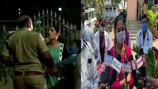 ACP Slaps A Lady Doctor While Telangana Lockdown In Khammam | @ SACH NEWS |