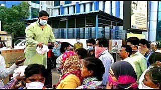 Food Distributed By Mohd Ghouse At Maternity Hospital Hyderabad | @ SACH NEWS |