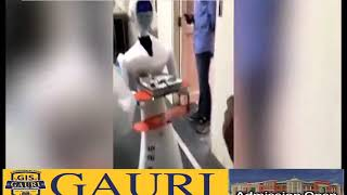Robots serving food &Medicine  to COVID-19 patients in Jaipur hospital