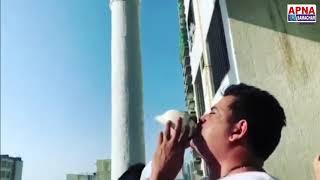 मेगास्टार व सांसद रवि किशन इस तरह से शंख बजाकर मोदी जी के आह्वान | जनता कर्फ्यू | का किया पालन