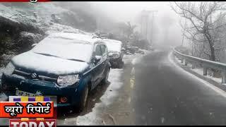 28 MARCH N 6 किन्नौर के सांगला घाटी के प्रसिद्ध पर्यटनस्थल छितकुल में अब तक करीब एक फीट बर्फ गिरी