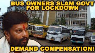 Bus Owners Slam Govt For Lockdown, Demand Compensation!