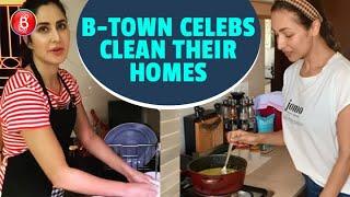 Malaika Arora, Katrina Kaif, Kriti Sanon - Bollywood Hotties Clean Up Their Homes During Quarantine