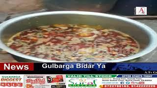 Gulbarga Me Ilyas Seth Ki Janib Se Food Packets Distribution A.Tv News 30-3-2020