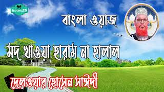 Allama Delwar Hossain Saidi Video Waz | মদ খাওয়া হারাম না হালাল । শিখার আছে অনেক কিছু । Saidi Waz
