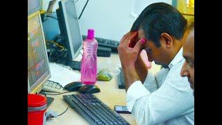 Sensex tanks 1,203 pts, Nifty ends below 8,300; IT, bank stocks drag