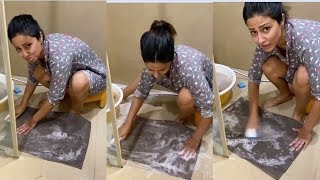 Hina Khan Washing Clothes During Lockdown । 1 April 2020 । News Remind