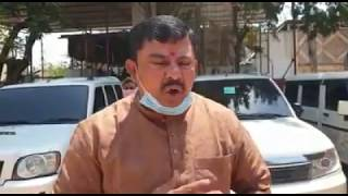 BJP MLA Raja Singh Sanatize His Constituency