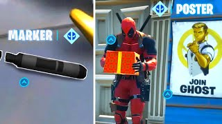 Find Deadpool's Big Black Marker Fortnite Deface GHOST or SHADOW recruitment posters Fortnite