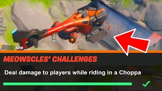 Deal damage to players while riding in a Choppa Fortnite