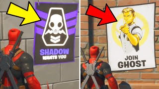 Deface GHOST or SHADOW Posters Fortnite
