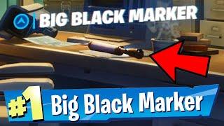 Find Deadpool's Big Black Marker Fortnite