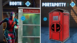 Enter a Phone Booth or Portapotty to become the Super-est of Superheroes Fortnite Week 7 Deadpool
