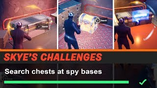 Search chests at Spy Bases