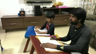 அப்பாவுக்கு ஆங்கிலம் சொல்லித்தரும் சூரி மகள் | Soori daughter teaching English to Soori