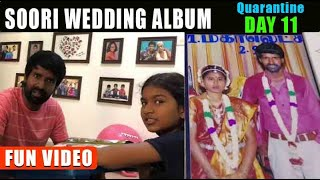 Soori quarantine 11th day - Soori's kids ultimate comedy watching Wedding album