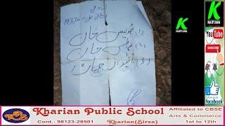 बेहरवाला गांव में दो गुब्बारों के साथ उर्दू में लिखी मिली पर्ची l पाकिस्तान से होने की आशंका l