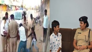 The Man Beaten By Police In Front Of His Son | Police Constable Suspended In Telangana |