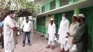 Raja Singh Seen In Masjids Of Hyderabad | Food Distribution By Raja Singh Is Going On |