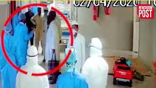 कोरोना :कैमरे में कैद तबलीगी जमातियों की हरकत, कानपूर में अस्पताल के अंदर की तस्वीरें