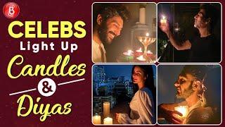 Kartik Aaryan, Akshay Kumar, Katrina Kaif, Ranveer Singh, Deepika Padukone Light Diyas & Candles
