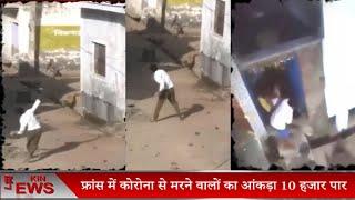 Uttar pardesh अलीगढ़ में राशन वितरण के दौरान दो गुटों में झगड़ा 12 लोग..