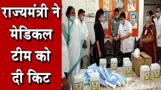 राज्यमंत्री ने मेडिकल टीम को दी किट
