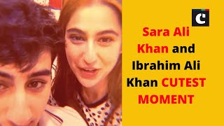 Sara Ali Khan and Ibrahim Ali Khan CUTEST MOMENT during lockdown| Bollywood News | Catch News