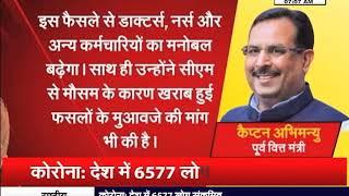 HARYANA : प्रदेश सरकार के इस फैसले पर पूर्व वित्त मंत्री कैप्टन अभिंन्यु ने जताया सीएम का जताया आभार