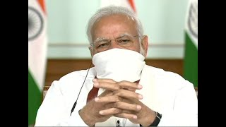 Watch: PM Modi wears mask in video-conference with CMs over lockdown extension, Covid-19 crisis
