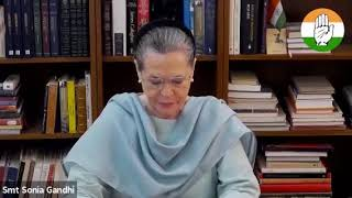 Opening remarks of CP Smt Sonia Gandhi at the video conference meeting with the PCC Presidents